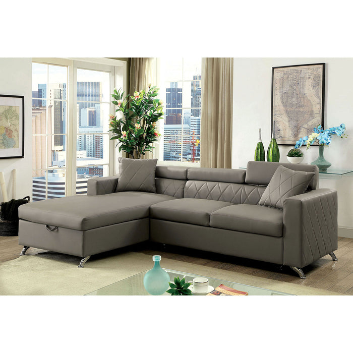 DAYNA Gray Sectional, Gray image