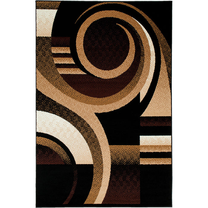 Blitar Brown/Black 5' X 7' Area Rug image