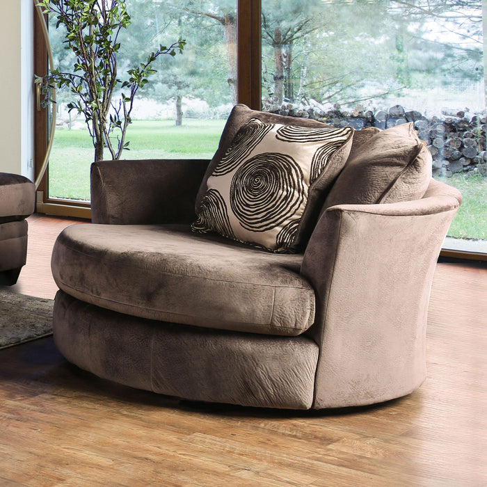 Bonaventura Brown Swivel Chair image