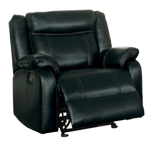 Homelegance Furniture Jude Glider Recliner Chair in Black 8201BLK-1 image