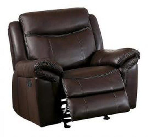 Homelegance Furniture Mahala Power Glider Recliner Chair in Brown 8200BRW-1PW image