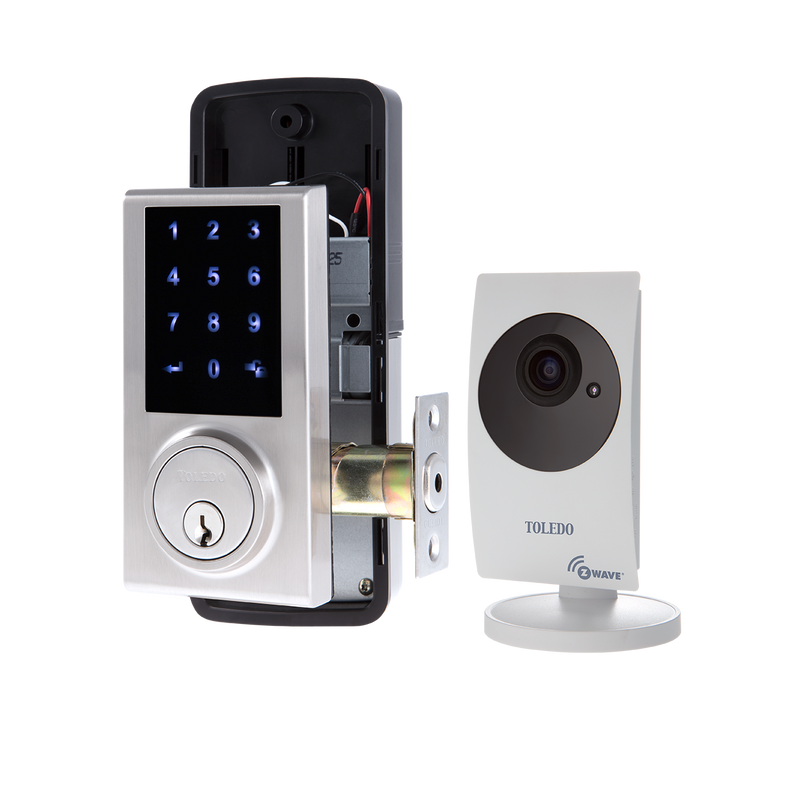 Single Cylinder Electronic Deadbolt / Z- Wave + IP Camera / Wireless Combo / V180-TZW/C