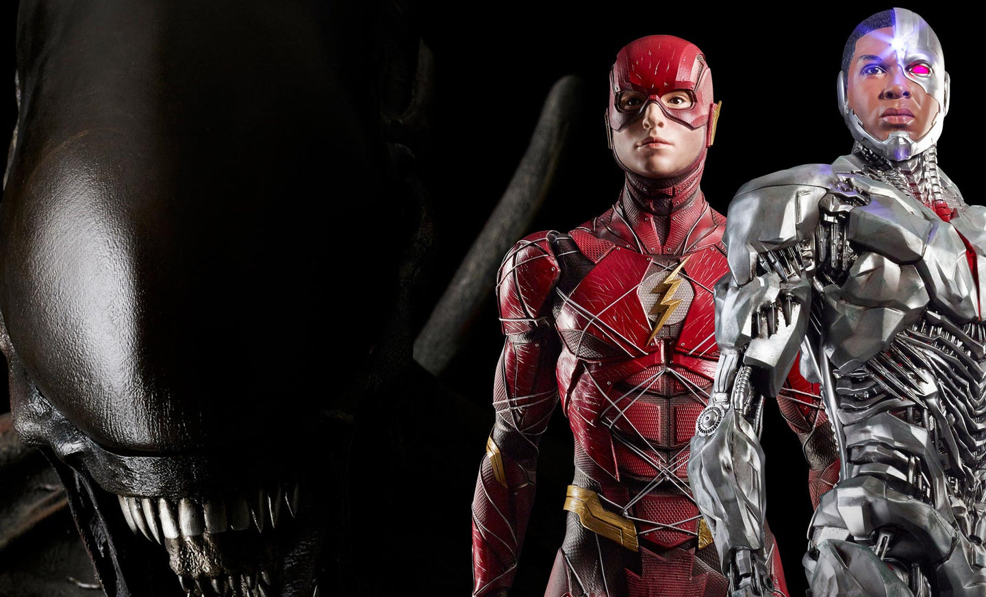 Lifesize Statues Justice League Flash und Cyborg