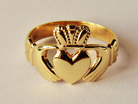 Gold Gents Claddagh Ring