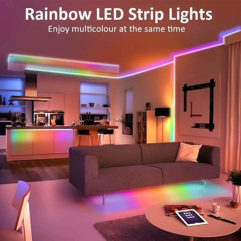 (🔥Winter Promotion 50% OFF) - RGB LED Strip Lights (Remote Control Included)