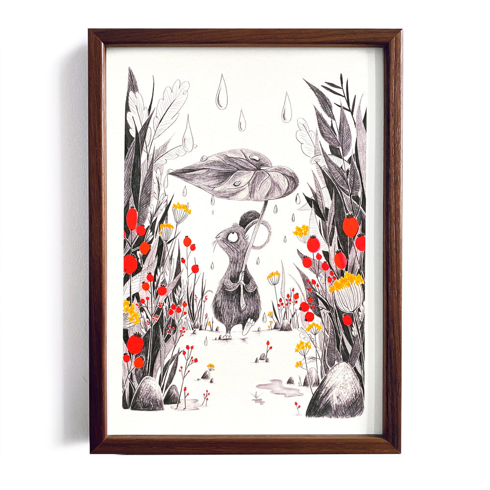 Raindrops ~ A4 Art Print - Miss Powell Prints