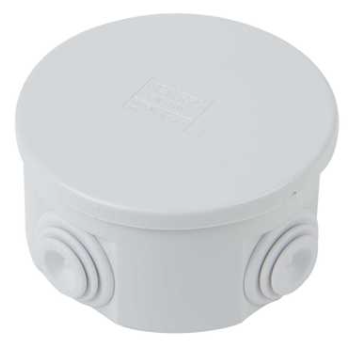 Gewiss GW44002 Ø80 x 40mm Round PVC Adaptable Box IP44