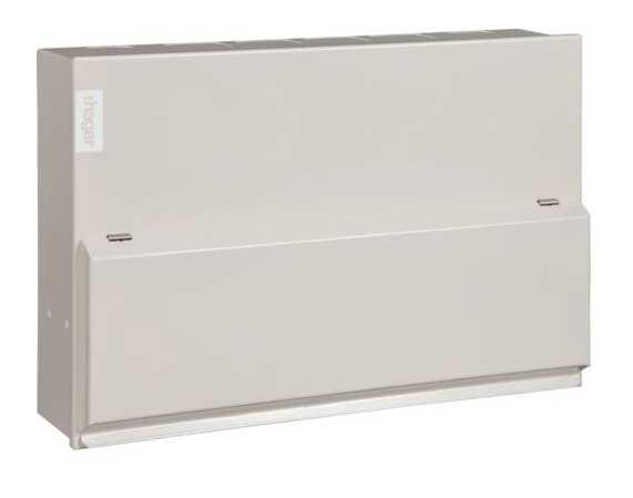Hager Design 10 12 Way Consumer Unit with SPD