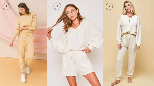 Creamy and Soft Tones Loungewear and Jogger Set