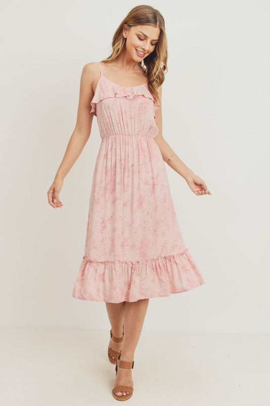 Spring Fever Dusty Pink Midi Dress