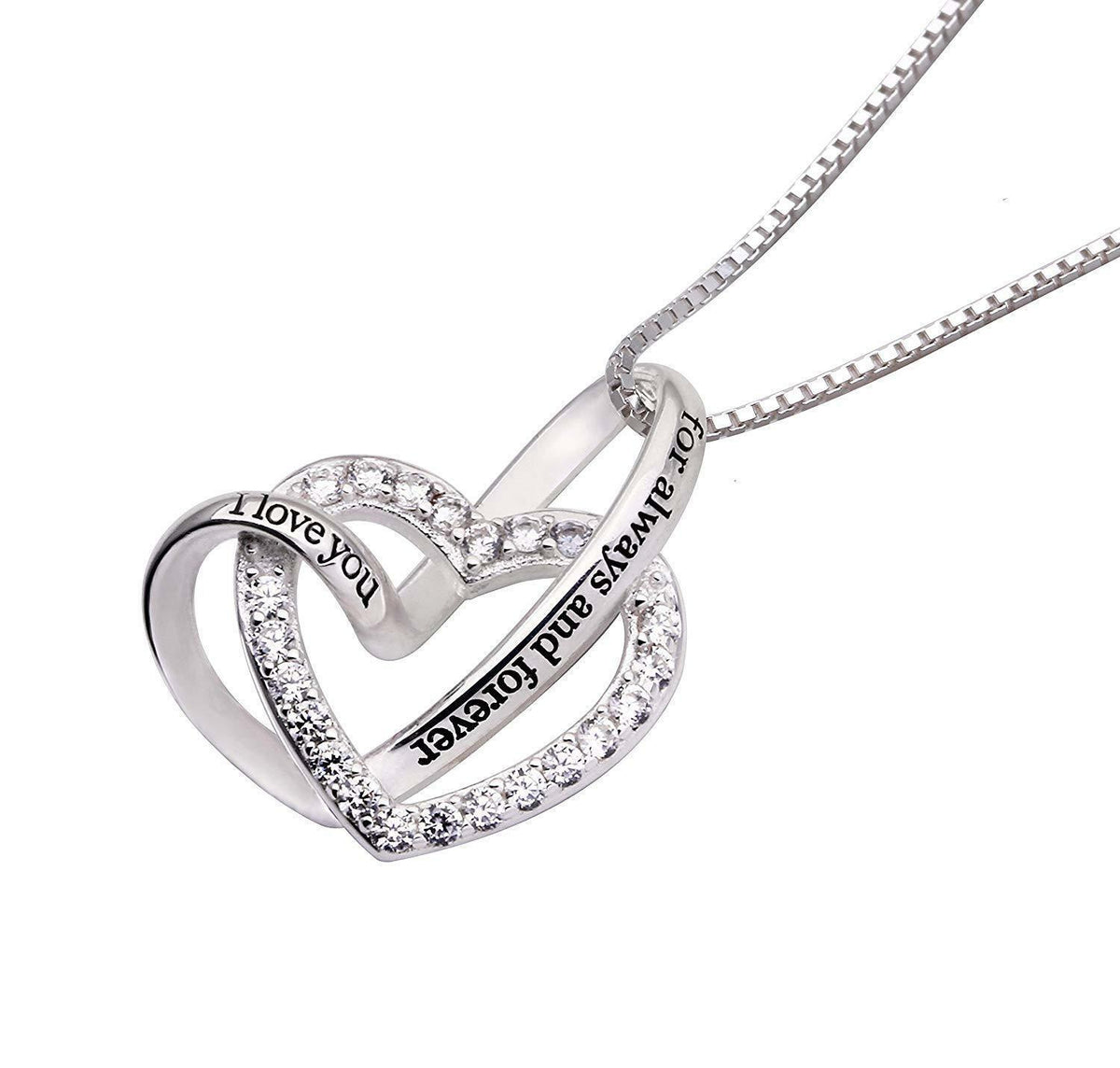"""I Love you Forever and Always"" Heart Necklace"