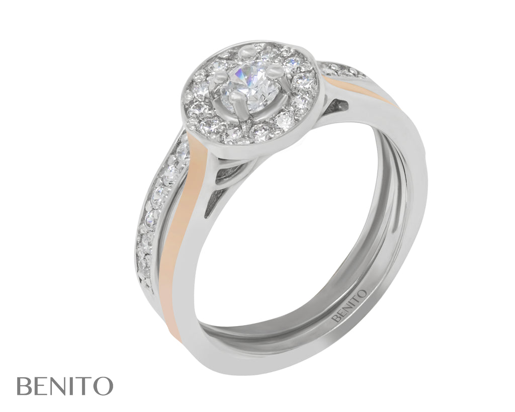Antonietta Ring White Zirconia Stones