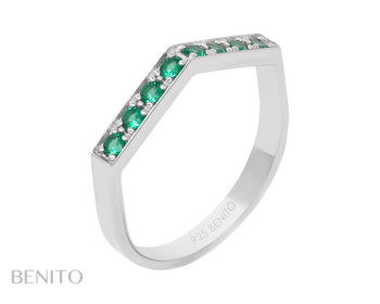 Aria Ring Green Nanocrystal Stones