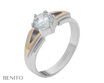 Catalina Ring White Zirconia Stone