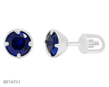 Emma Earrings Blue Spinel Stone