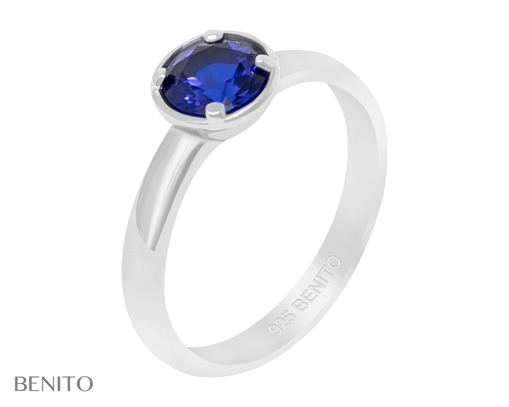 Emma Ring Blue Spinel Stone