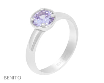 Emma Ring Purple Fianit Stone