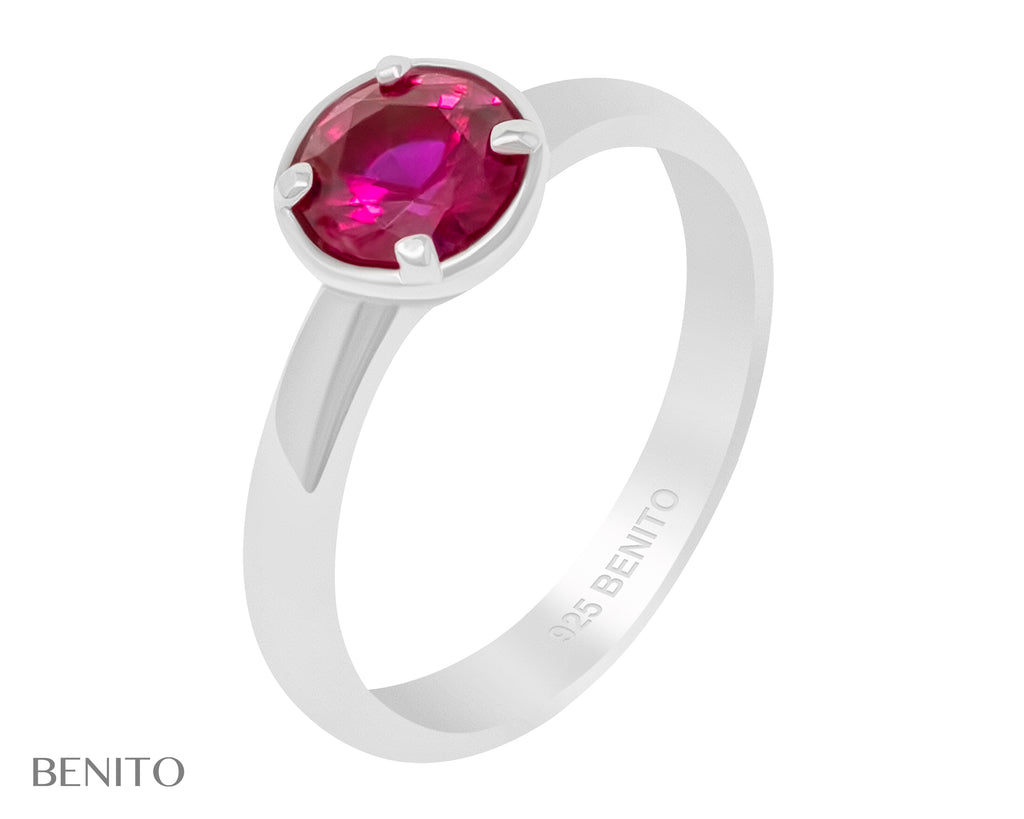 Emma Ring Red Ruby Stone