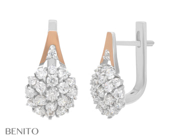 Fabrizia Earrings White Fianit Stones