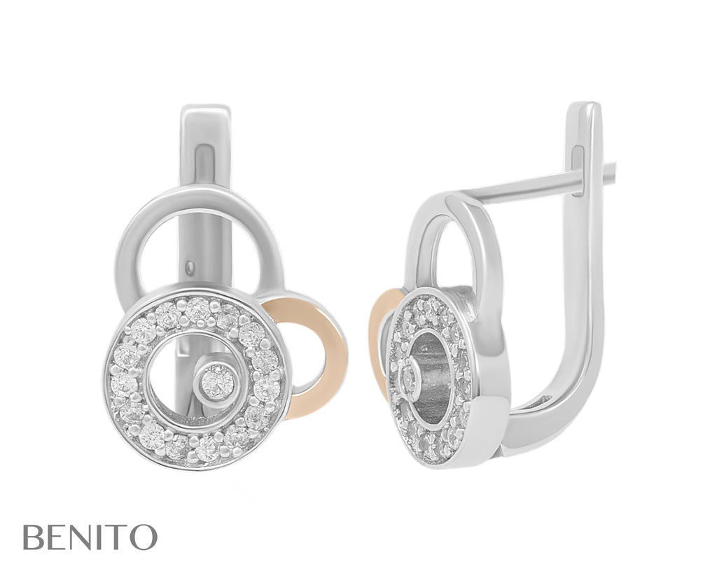 Giovanna Earrings White Fianit Stones
