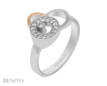 Giovanna Ring White Fianit Stones