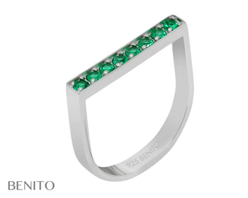 Ida Ring Green Nanocrystal Stones