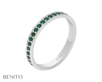 Lina Ring Green Fianit Stones