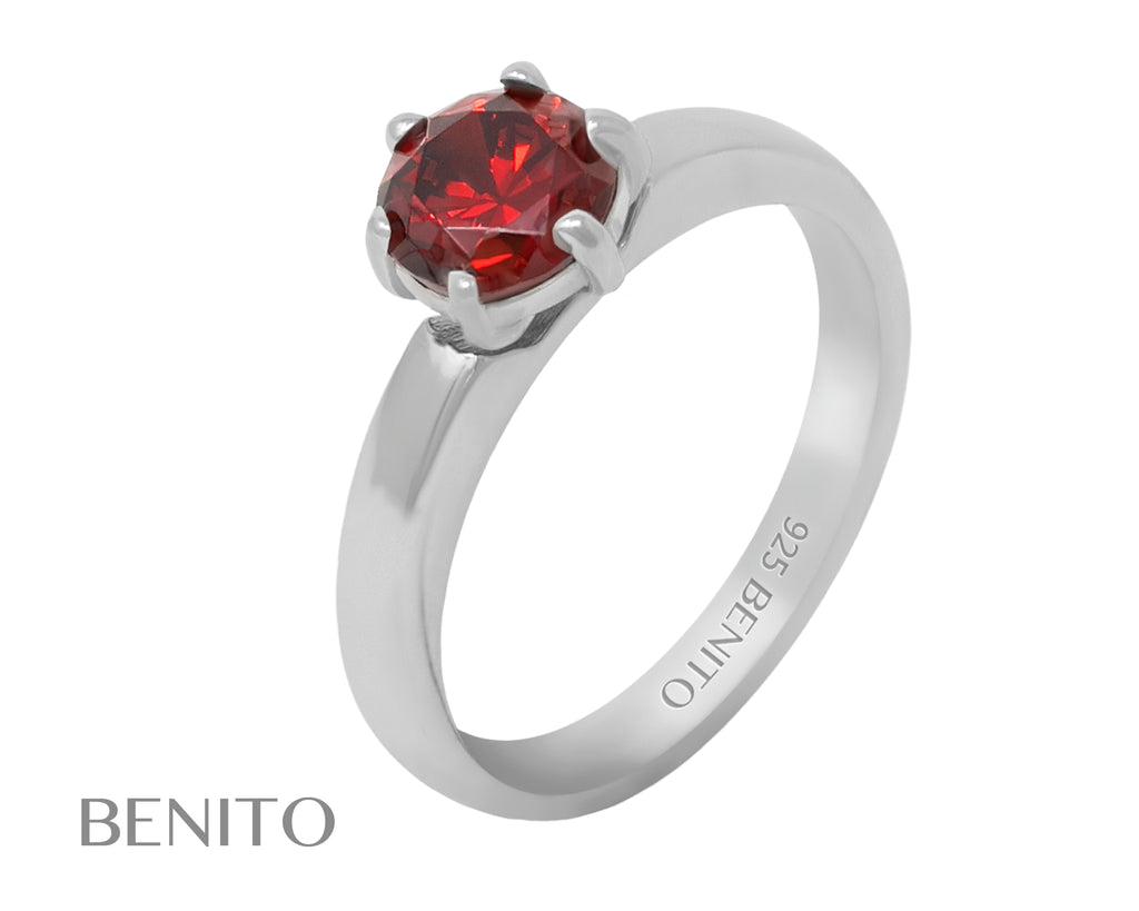 Marta Ring Red Fianit Stone