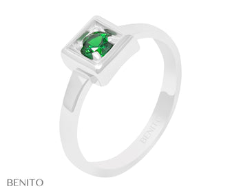 Tina Ring Green Zirconia Stone
