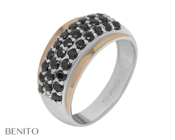 Viridiana Ring Black Fianit Stones