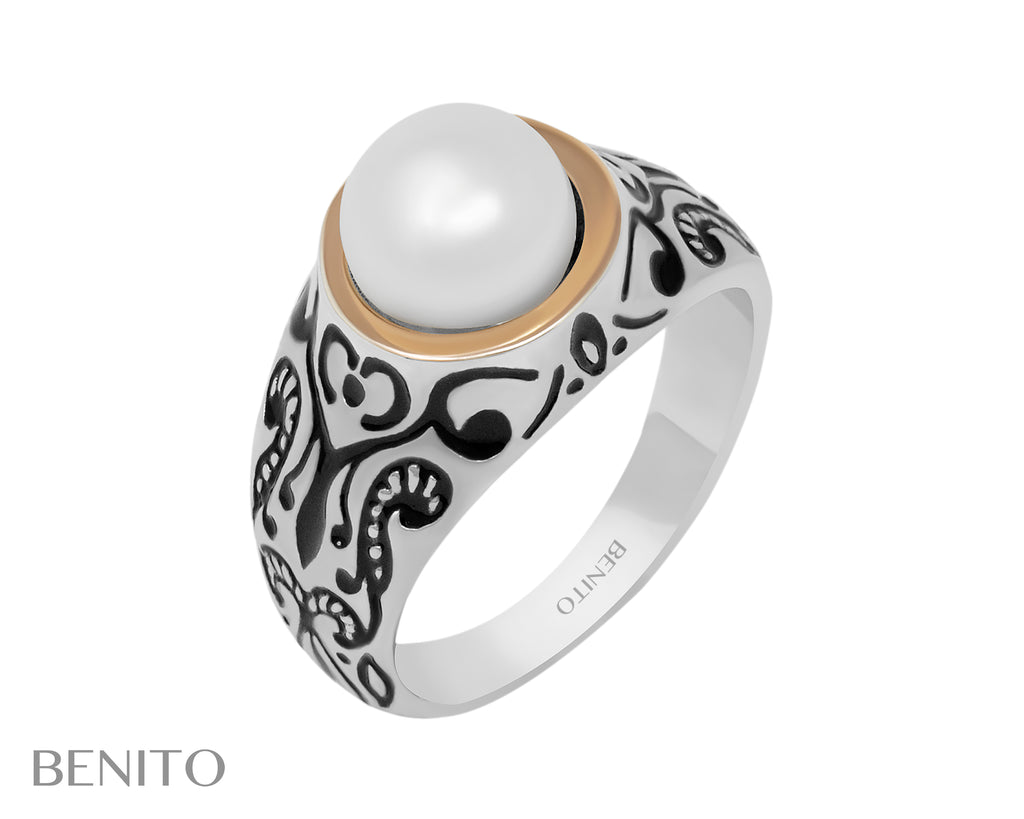 Zita Ring White Pearl