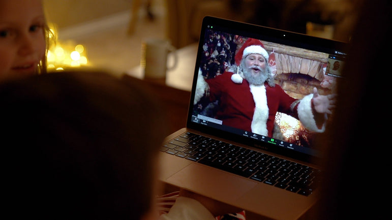 Video call with Father Christmas