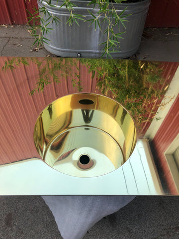 custom brass sink
