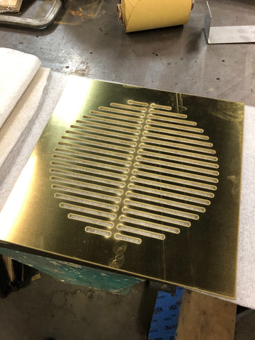 custom brass grille