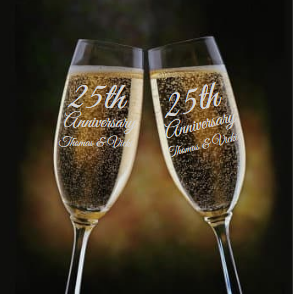 Personalized Anniversary Champagne Flute