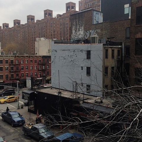 New York City street view from The High Line In Chelsea near the Meat packing district