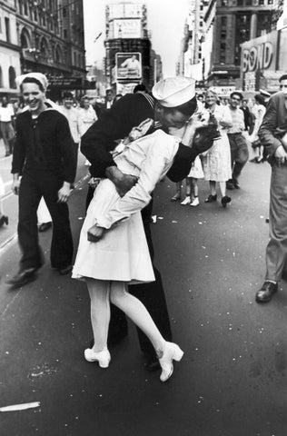 Famous V-J Day in Time Square photograph New York City