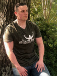 Men's Army Green V-neck Tee
