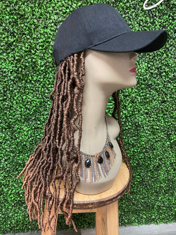 Janell- Faux loc Hat Wig- Synthetic Hair