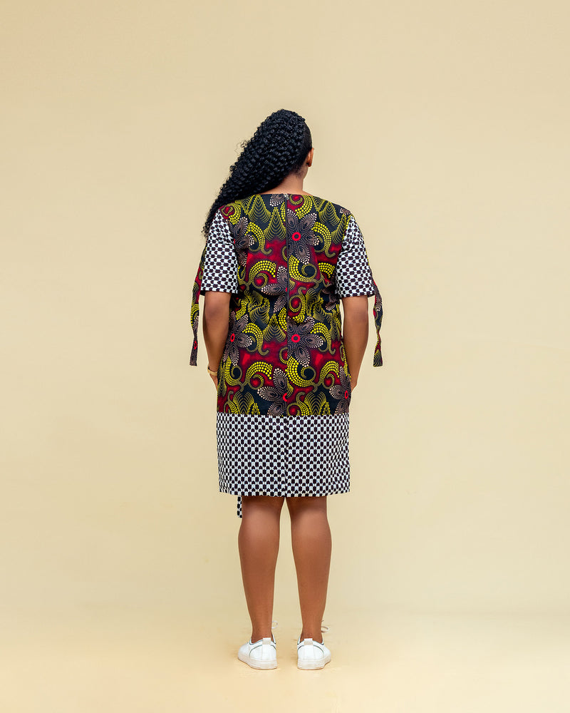 Shola African Print mixed gown