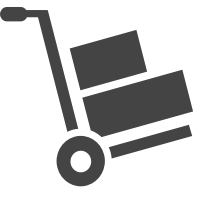 An icon of a shipping dolly