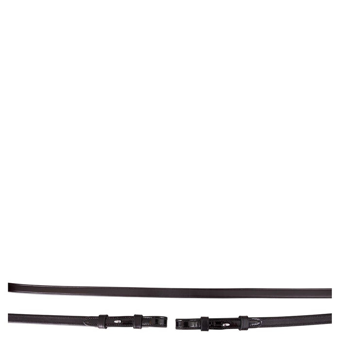 BR Dressage Reins Patent Leather - Black
