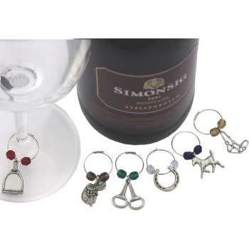 Uniquely Equine Wine Charms