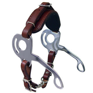 Coronet Leather Maxtra Hackamore with Padded Nose - Brown