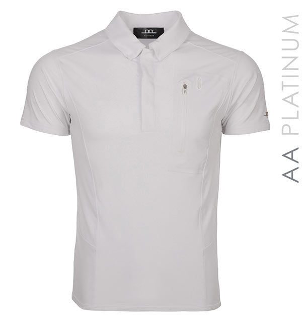 AA Men's Technical Polo Shirt (One White size Large Left)