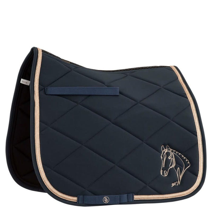 SAMPLE - BR 4-EH Rosie Dressage Pad - Blueberry sz Cob