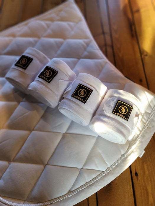 BR Event Saddle Pad and Polo Set - White