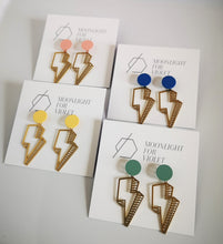 Load image into Gallery viewer, LIGHTENING BOLT EARRINGS