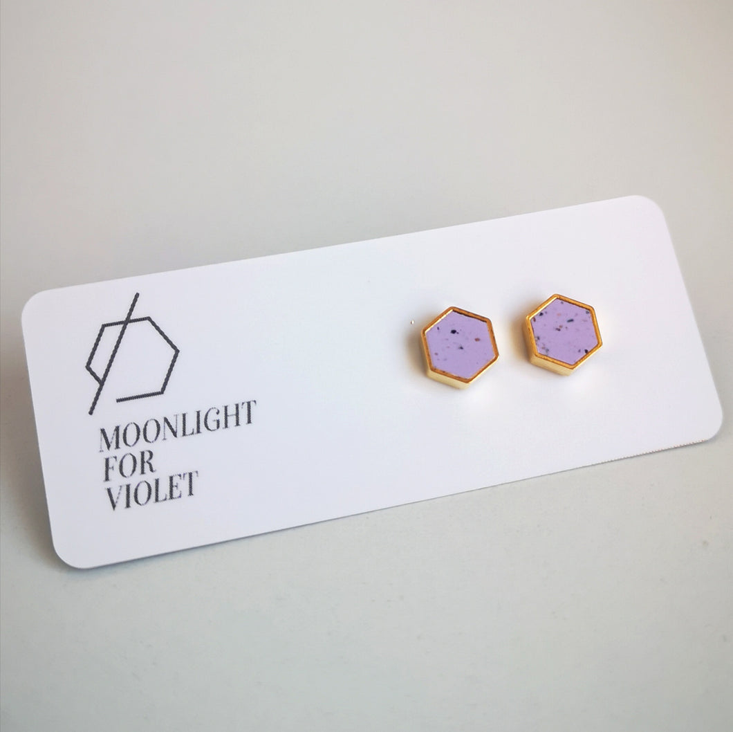 HEXAGON STUDS - 50+ colours available