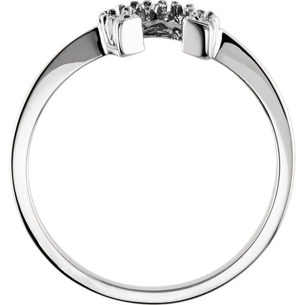 14K White Gold Horseshoe Ring